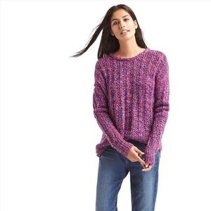 GAP loose knit chunky marled sweater NWT